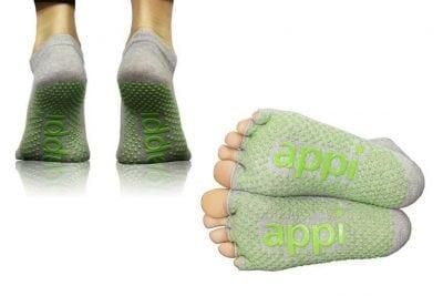 APPI Non-Slip Grip Sock - Half Toe